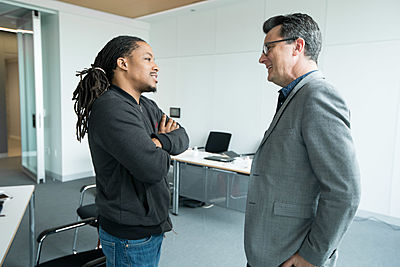 Darius Ballinger (CLA`19) with Professor William Howell